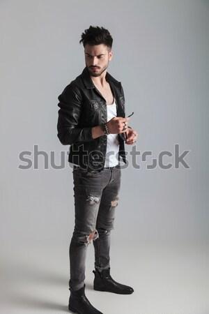 side view of a flashy male latino dancer Stock photo © feedough