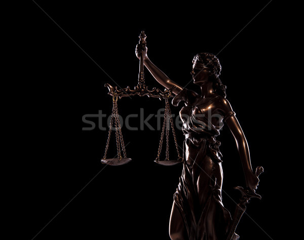 side view picture of goddess of justice statue  Stock photo © feedough