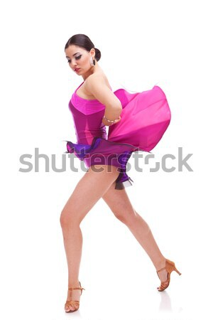 salsa woman dancer holds her dress Stock photo © feedough