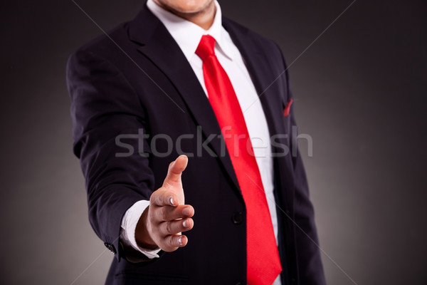 Stock photo: business man offering hand shake