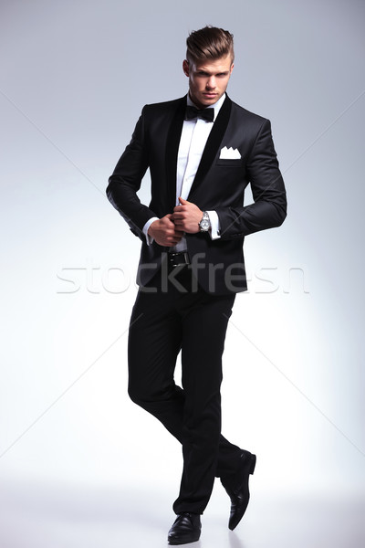 Mode Geschäftsmann Hände Jacke Bild Stock foto © feedough