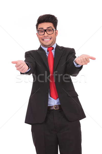 business man making a funny face Stock photo © feedough
