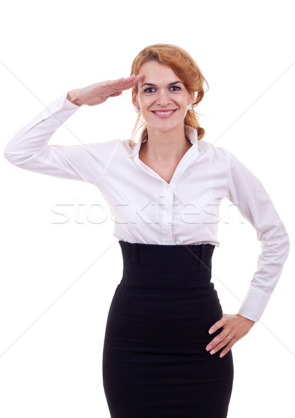 I salute you! Stock photo © feedough