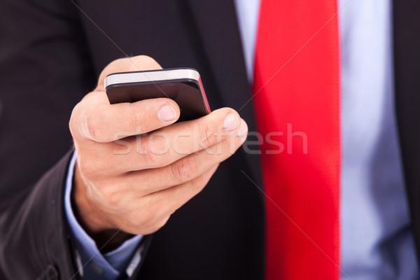 Foto stock: Homem · de · negócios · quadro · negócio