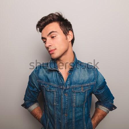 Casuale uomo giacca stretto giovane Foto d'archivio © feedough