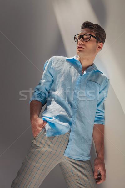 угол мнение случайный моде человека Сток-фото © feedough