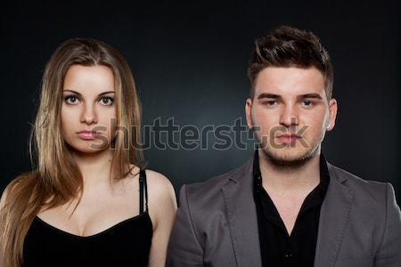 man and woman making funny faces Stock photo © feedough