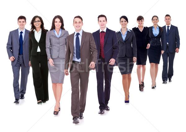 Successful happy business team walking Stock photo © feedough