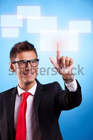 Stock photo: business man making a choice