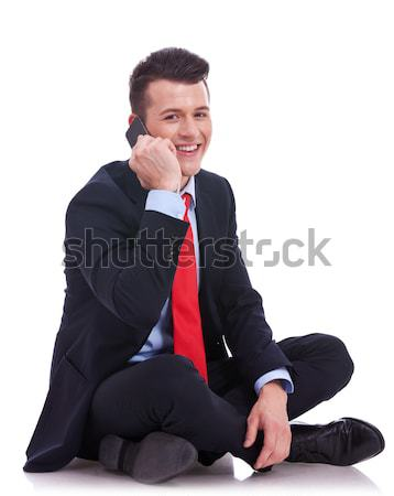 seated businessman talking on the phone Stock photo © feedough