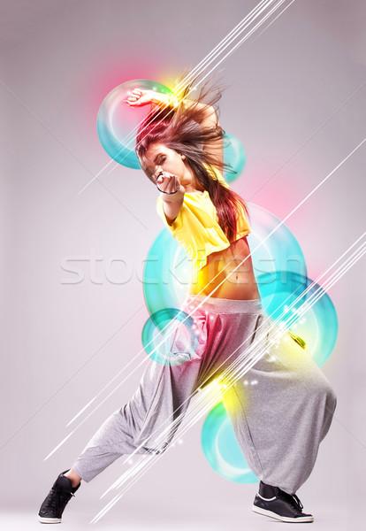 情熱的な 若い女性 ダンサー 美しい 夢のような ポーズ ストックフォト © feedough