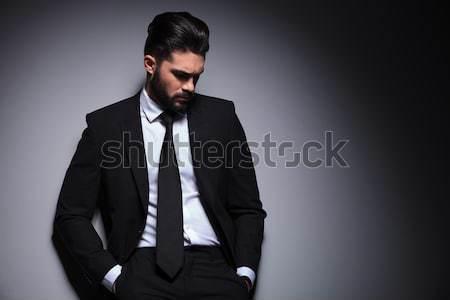 Fiatal divat férfi kezek külső lefelé Stock fotó © feedough