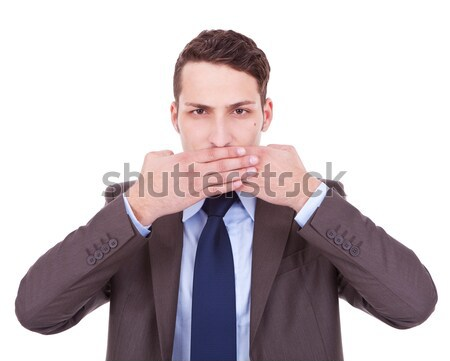 Stock photo: speak no evil
