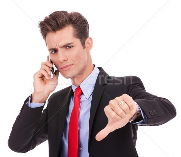 ビジネスマン 悪い知らせ 携帯電話 負 オフィス ストックフォト © feedough