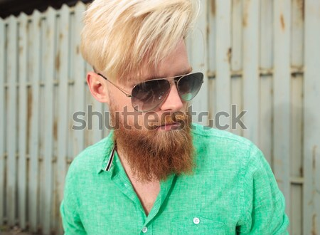 head and shoulders of  mature man wearing hat and sunglasses Stock photo © feedough