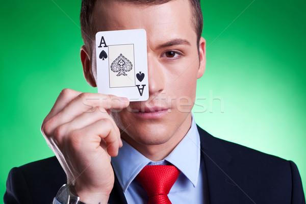 ace over eye Stock photo © feedough