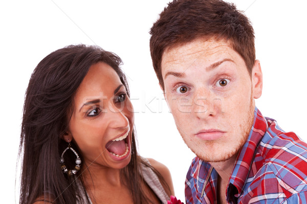 Cute couple arguing Stock photo © feedough