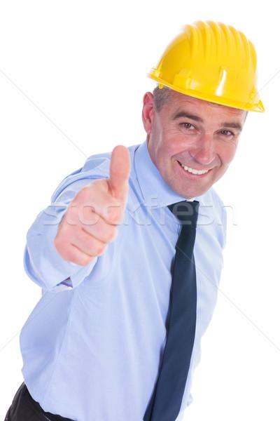 ストックフォト: 古い · エンジニア · 笑顔 · シニア