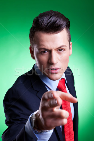 serious young business man accusing Stock photo © feedough