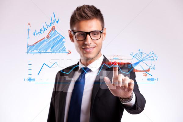 Geschäftsmann gut Wahl jungen Stock foto © feedough
