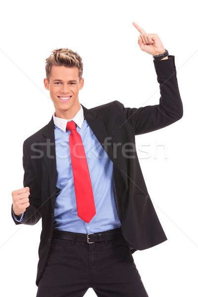 businessman  with his arms widened winning Stock photo © feedough