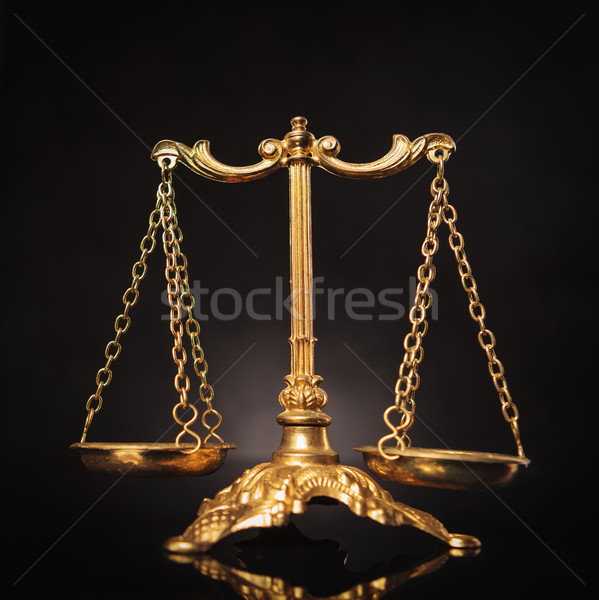 Symbol of justice, law scales Stock photo © feedough