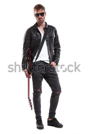 моде человека Постоянный рук фотография Сток-фото © feedough