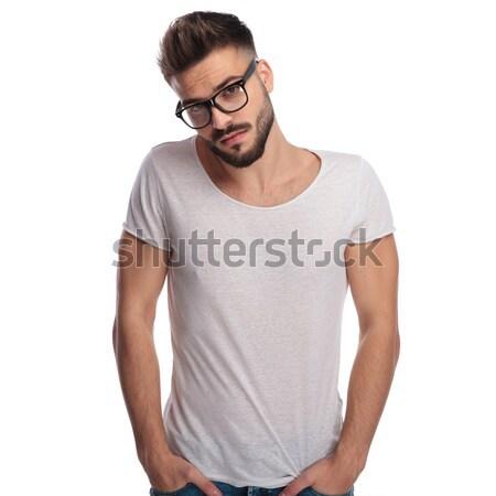 молодые случайный человека очки Сток-фото © feedough