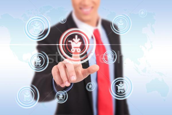 ストックフォト: ビジネスマン · ショッピング · ボタン · ビジネスマン