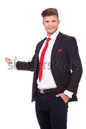 Uomo d'affari giovani qualcosa indietro Foto d'archivio © feedough