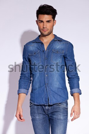 casual man with raised shoulders Stock photo © feedough