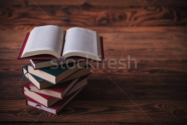 Open boek top boeken boek teken Stockfoto © feedough