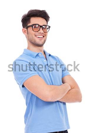 Stock photo: young man with arms crossed