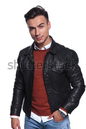 business man unbuttons his jacket Stock photo © feedough