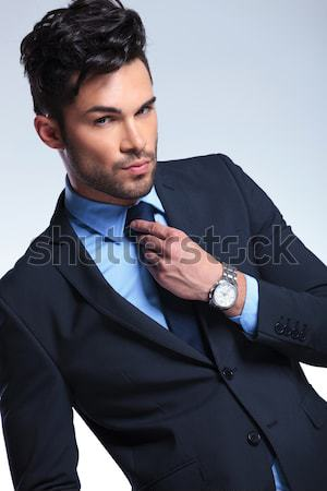 young man in pensive pose Stock photo © feedough