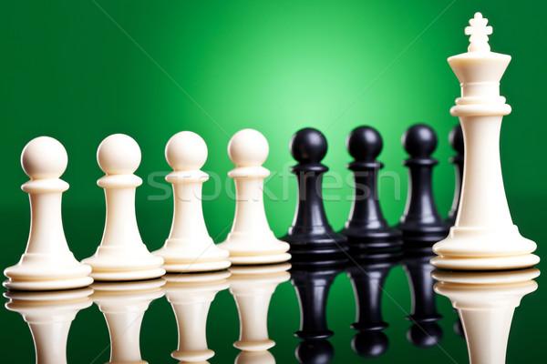 Vezető csapat fehér király mindkettő fekete Stock fotó © feedough