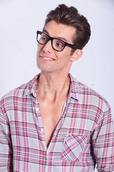 casual man looks to his side Stock photo © feedough