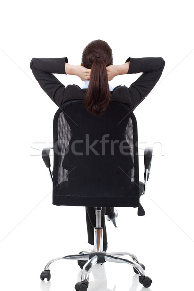 Stock photo: woman dreaming on chair