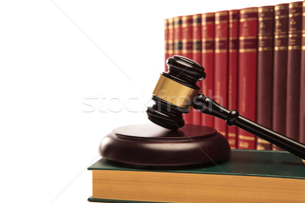 judge's gavel on a law book Stock photo © feedough