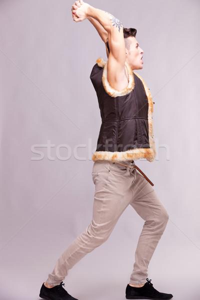 angry casual man Stock photo © feedough
