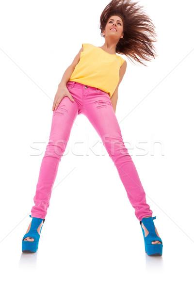 ストックフォト: 小さな · カジュアル · 女性 · いい · 髪