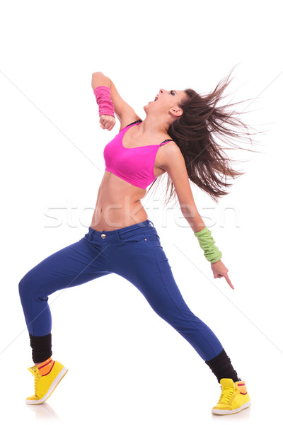 Stock photo: energetic young woman dancer