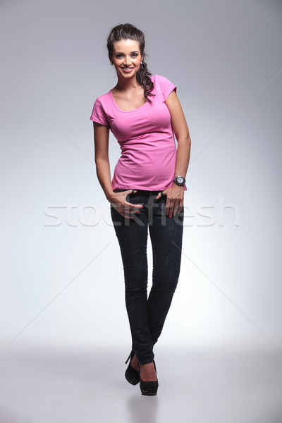 full body picture of a young casual woman  Stock photo © feedough