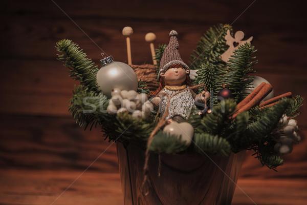 Stock photo: closeup of a christmas decoration
