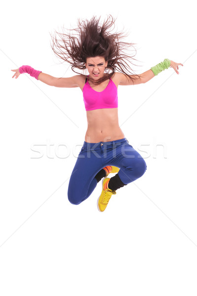woman dancer jumping Stock photo © feedough