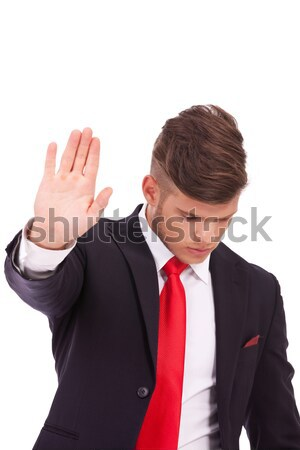 business man stopping you Stock photo © feedough