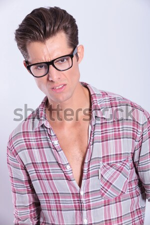 portrait of a handsome blond man in casual clothes  Stock photo © feedough