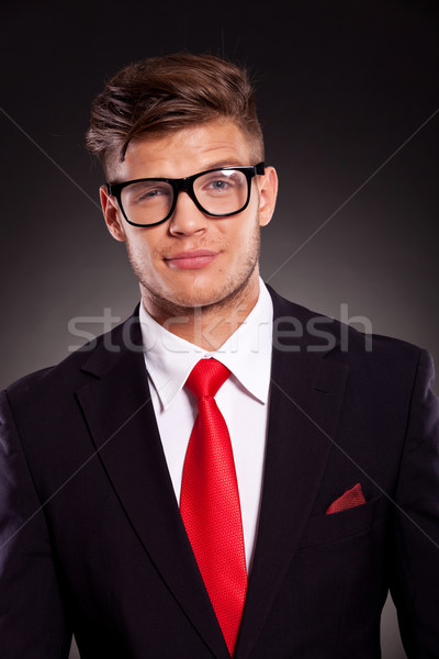 business man looking suspiciously Stock photo © feedough