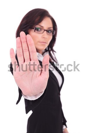 business woman stopping you Stock photo © feedough
