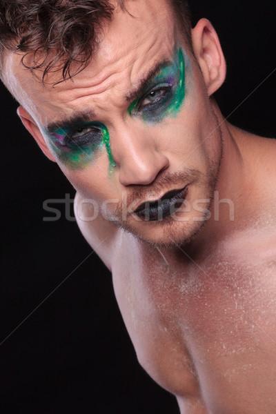 Casual homem make-up preto moço Foto stock © feedough